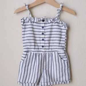 Baby Gap Striped Romper with Pockets, 12-18 mo